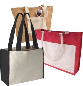 Shoping bags from cotton or jute оr canvas textile