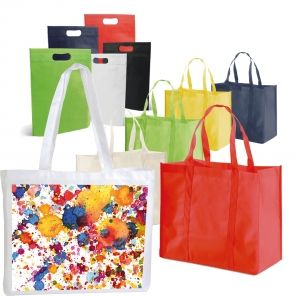 Tote bags for advertising and shopping