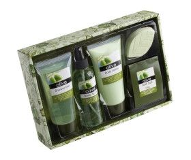 Gentle olive bath set