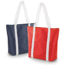 Non-woven bag with zipper and long handles
