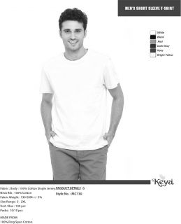 Men's T-Shirt Keya MC130 - white