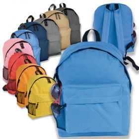Backpack with zipped front pocket