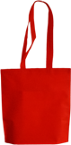 Dark red non woven shopping bag