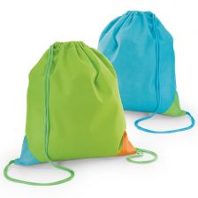 Backpack with color edges