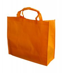 Orange non woven shopping bag