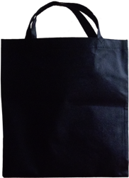 Black non-woven bag for shopping