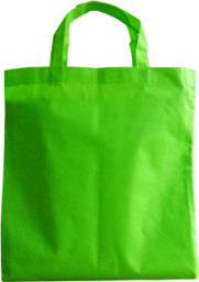 Light green non woven bag