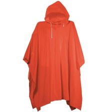 Single size hooded poncho in pouch