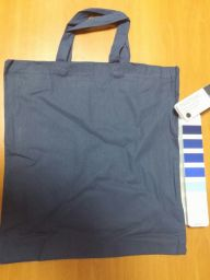 Cotton shopping bags navy blue