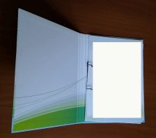Folders with hard covers customer design