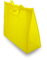 Yellow shopping bag nonwoven textile