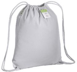 Organic cotton drawstring bag white color