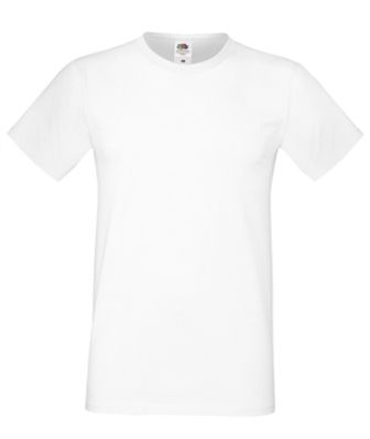 Unisexs T-Shirt Fruit of the Loom Sof Spun - white
