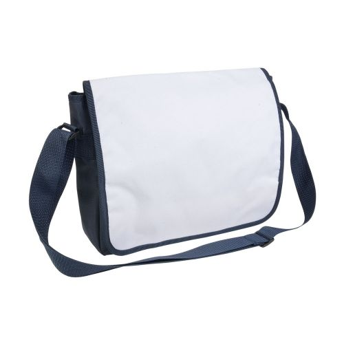 Bag with adjustable shoulder strap and white flap suitable for sublimation printing