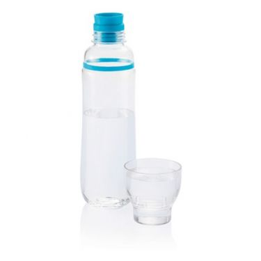 Tritan water bottle with cup