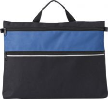 Polyester document bag with a zipped front pocket