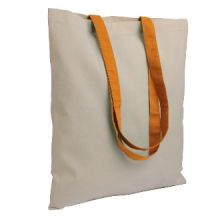 Shopping bags with colored long handles