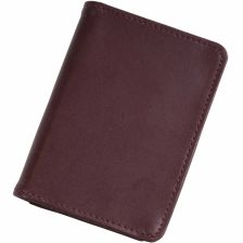 Bounded leather credit card and business card holder