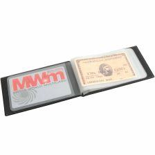 Credit card holder for 10 cards with synthetic leather covers
