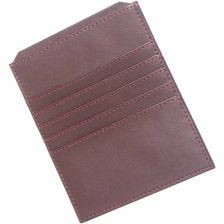 Bounded leather credit card and document holder