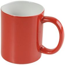 Ceramic cups - bicolor otside red, inside white