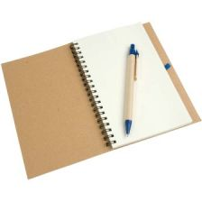 Notebook with pen in set