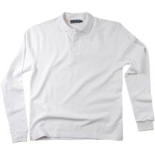 Pique cotton long sleeve men's polo shirt