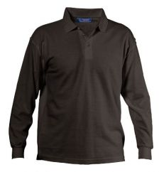 Pique cotton long sleeve men's polo shirt 20016