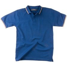 Short sleeve polo shirt with  Italian colors 20020