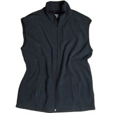 Fleece vest with side pockets