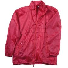 Polyester 190T hooded rain jacket